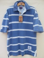 Short Sleeved Striped Piqu� Polo with Pocket